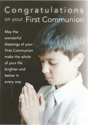 Picture of Boy praying with cross