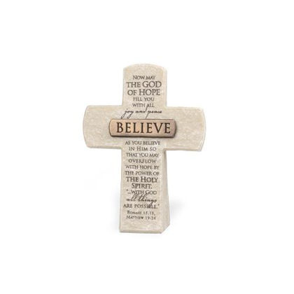 Picture of Cross with bronze title bar - Believe