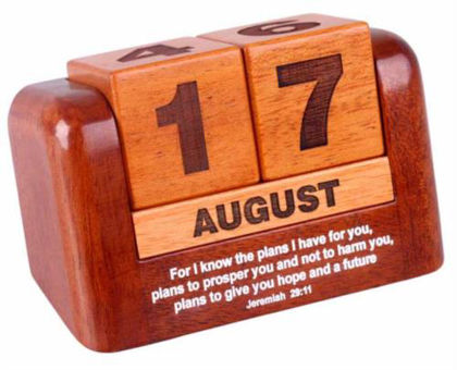 Picture of Desk Calendar - Perpetual Daily