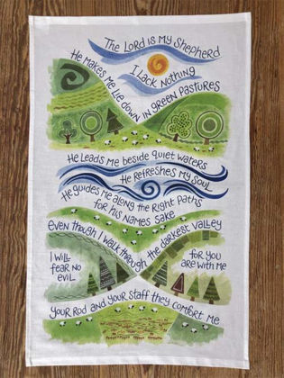 Picture of Lord is my shepherd The Tea towel
