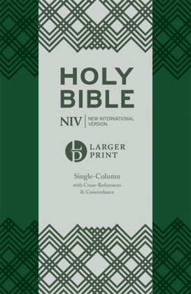 Picture of NIV Larger Print Comp Single col ref Grn