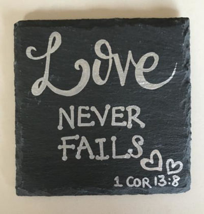 Picture of Slate Coaster - Love Never Fails