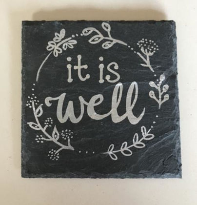 Picture of Slate Coaster - It Is Well