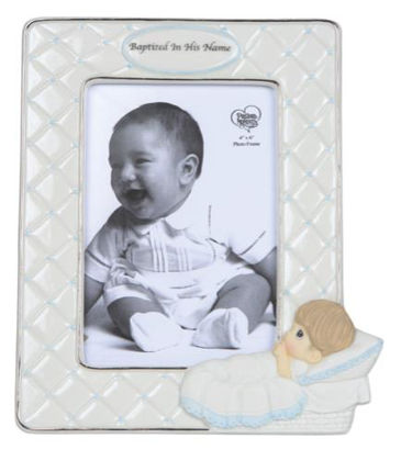 Picture of Precious Moments - Boy Baptism Frame