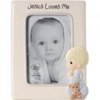 Picture of Jesus Loves Me Frame Boy