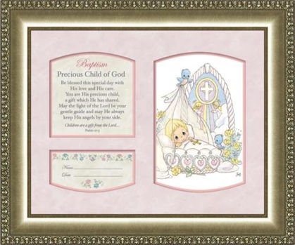 Picture of Precious Moments Frame - Baptism Girl