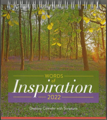 Picture of Words of Inspiration desk calendar 2022